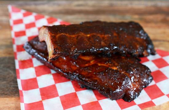 Picture of Smoked 100% Natural Cheshire Baby Back Ribs for Two (1 Rack)